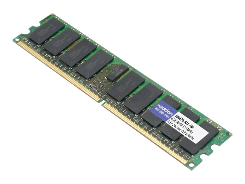 ACP-EP 4GB PC3-10600 240-pin DDR3 SDRAM UDIMM, 500672-B21-AM