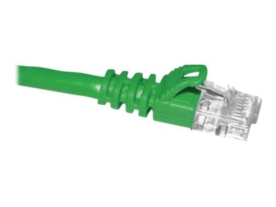 CP Technologies ClearLinks Cat5e 350MHz Molded Patch Cable, Green, 14ft