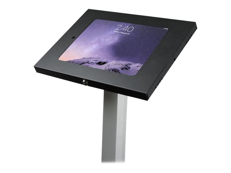 StarTech.com Lockable Floor Stand for iPad, Black Silver, STNDTBLT1FS