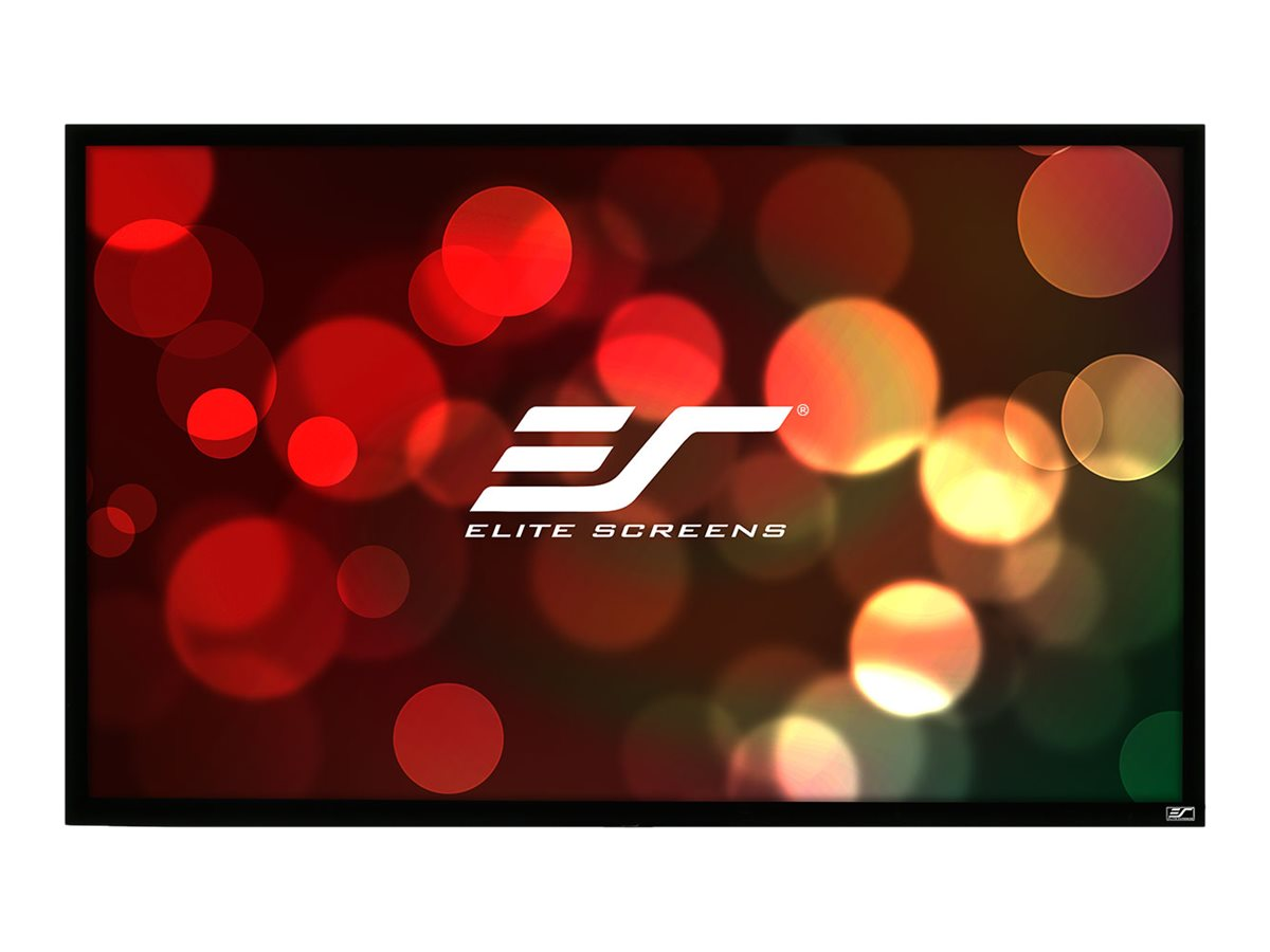Elite EZ Frame Fixed Projection Screen, Tension White, 16:9, 92in