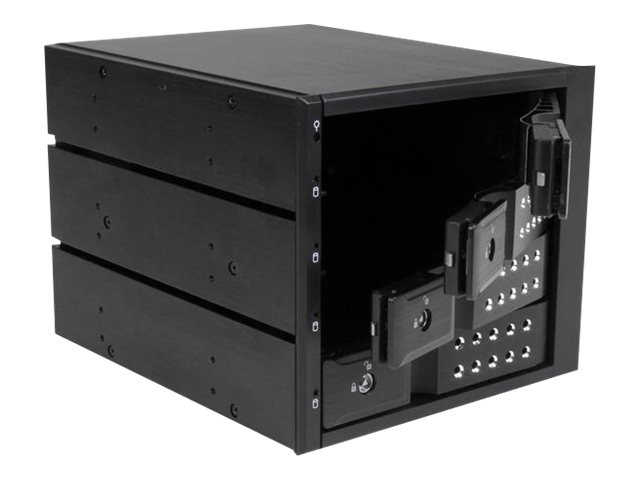 StarTech.com Bay Aluminum Trayless Hot Swap Mobile Rack Backplane for 3.5 SAS SATA 6Gb s Hard Drives, HSB4SATSASBA