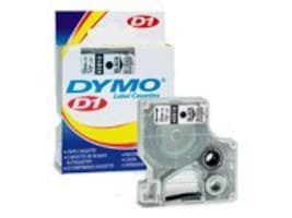 DYMO 1 2 x 23' Black on White D1 Tape, 45013, 176427, Paper, Labels & Other Print Media