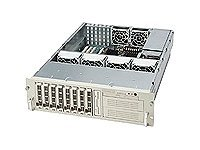 Supermicro Chassis, 3U Rackmountable, Dual Xeon, EATX, 8xSCSI Hot-Swap, 2x5.25, FDD, 760W TRPS, Black, CSE-833S2-R760B, 6547023, Cases - Systems/Servers
