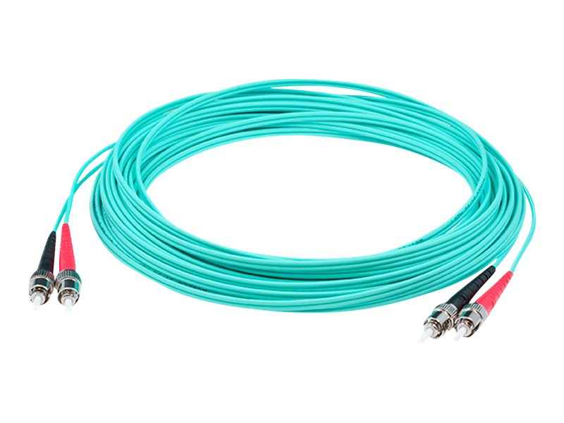 ACP-EP ST-ST Laser-Optomized Multi-Mode Fiber (LOMM) OM4 Duplex Patch Cable, Aqua, 1m