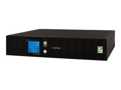 CyberPower 1500VA 1000W Smart App Sinewave LCD UPS 2U Rackmount Tower 120V AVR (8) 5-15R Outlets TAA Compliant
