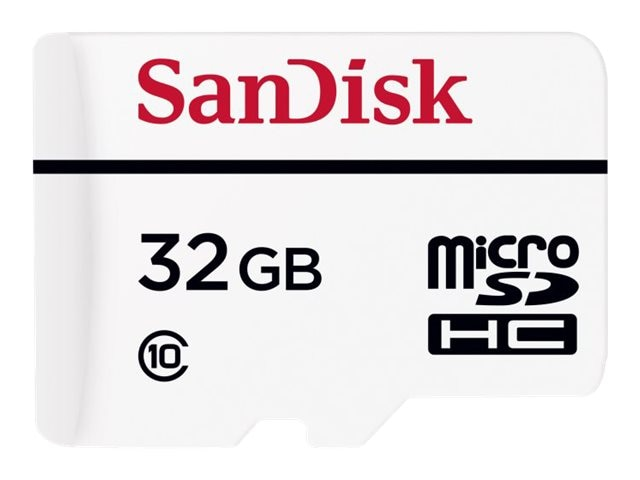 SanDisk 32GB High Endurance Video Monitoring MicroSDHC Memory Card, Class 10, SDSDQQ-032G-G46A, 19013995, Memory - Flash