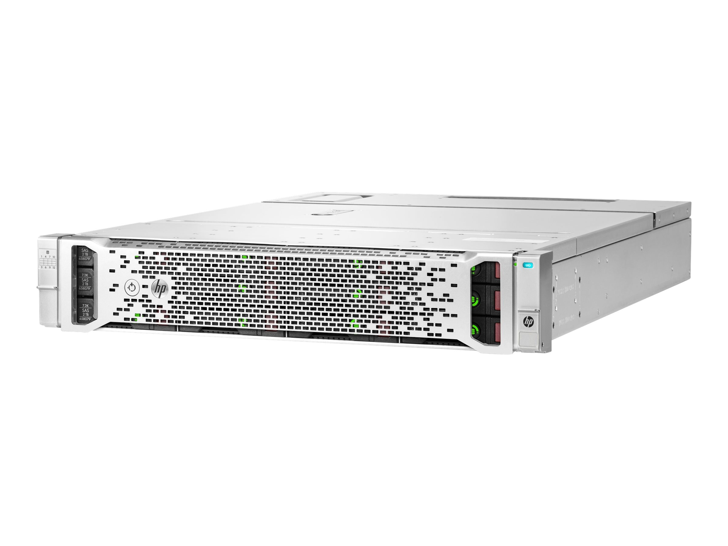 HPE D3600 Disk Storage System w  (12) 8TB SAS 12Gb s 7.2K RPM LFF 3.5 Midline Smart Carrier Hard Drives, M0S82A
