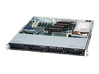 Supermicro 1U Chassis, 4x3.5 Hot-swap SAS SATA Bays, Dual Xeon Support, 600W PSU, CSE-813MTQ-600CB, 11720273, Cases - Systems/Servers