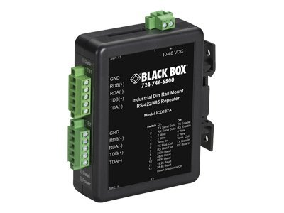 Black Box RS-422 RS-485 Industrial DIN Rail Repeater
