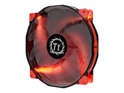 Thermaltake Luna 20 Red LED Silent Case Fan, 200x200x30mm, CL-F025-PL20RE-A, 17845667, Cooling Systems/Fans