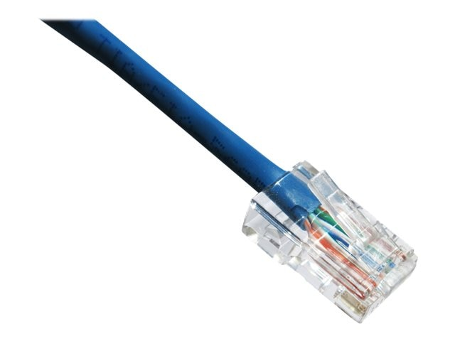 Axiom CAT6 550MHz UTP Bootless Patch Cable, Blue, 5ft, TAA
