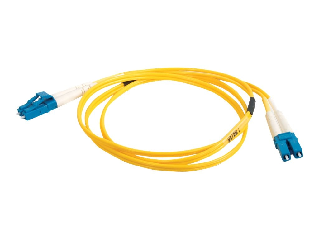 C2G LC-LC 9 125 OS1 Singlemode Fiber Optic Cable, Yellow, 2m, 26264, 5461527, Cables