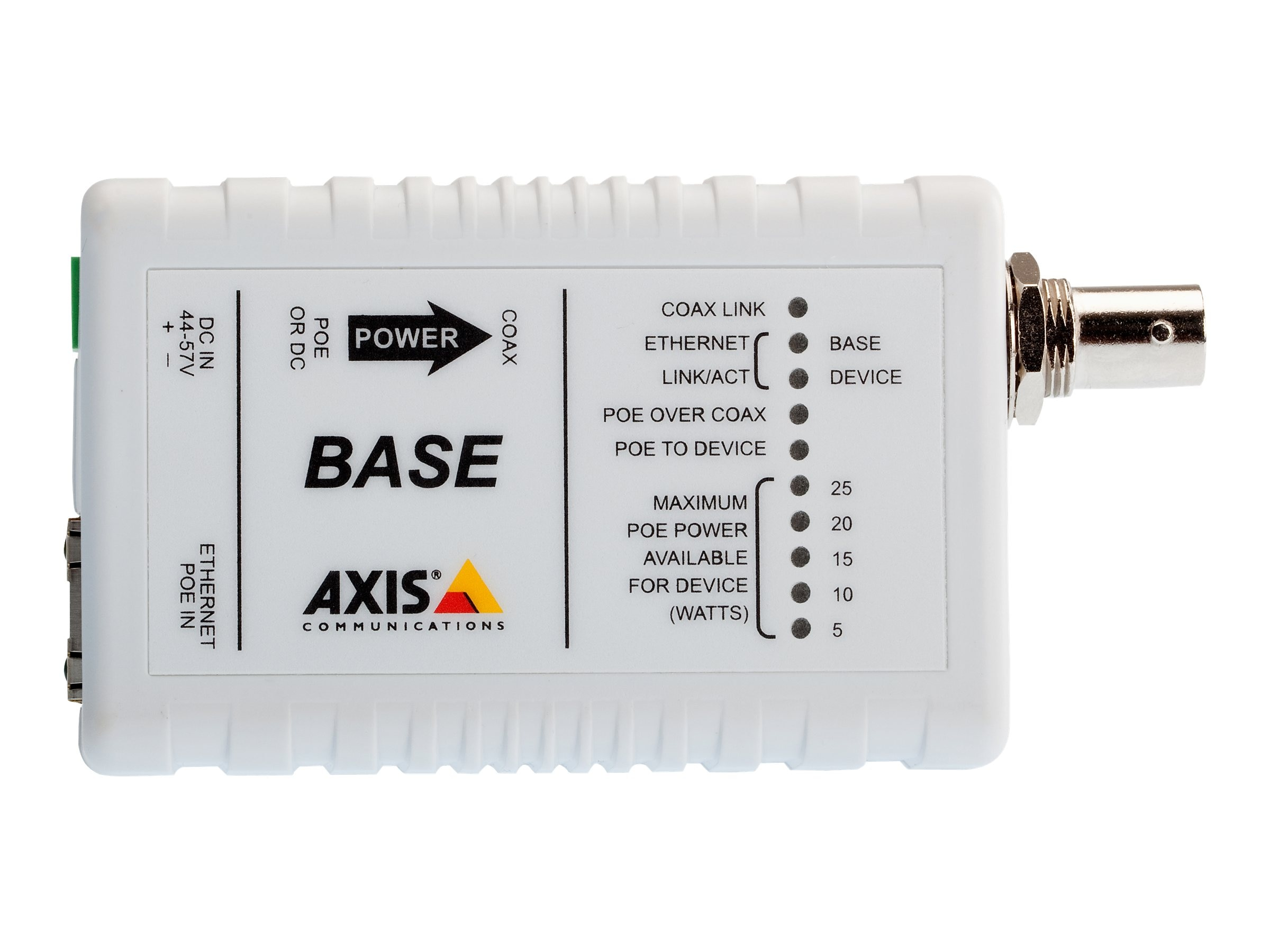 Axis Ethernet over Coax Base PoE+ Adapter