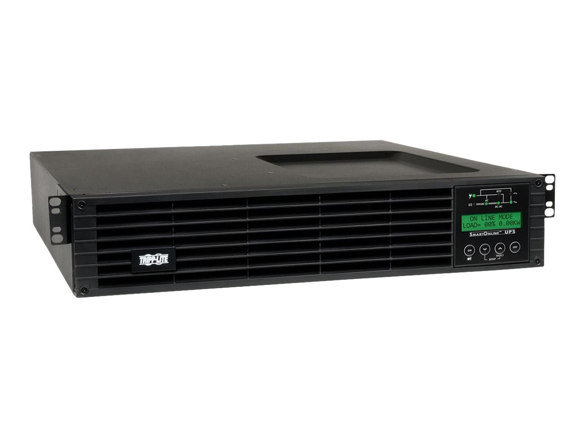 Tripp Lite SmartOnline 1.5kVA 1.35kW 120V Double-Conversion UPS, 2U RT, Extended Run, SNMP Card, LCD, USB, DB9