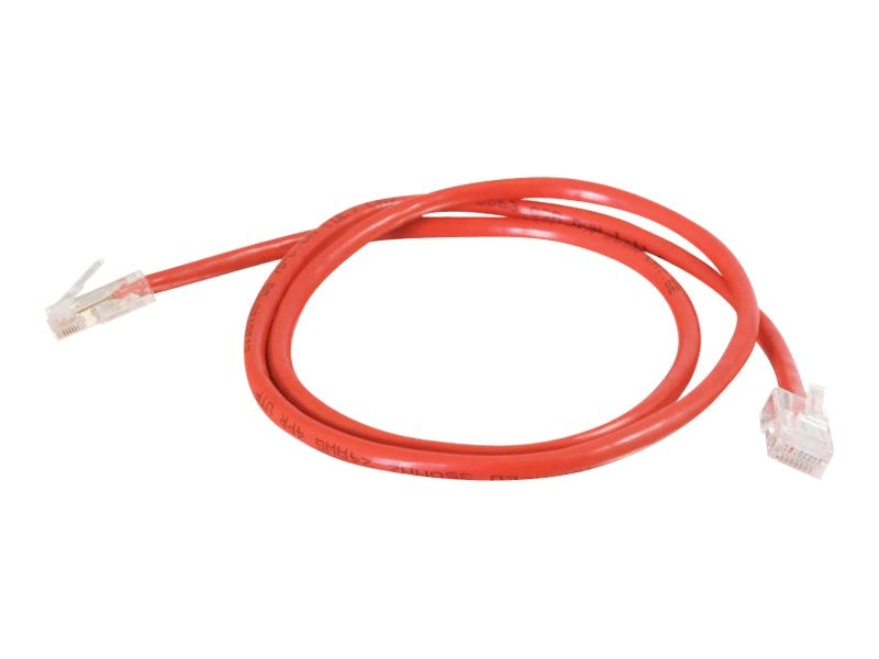 C2G Cat5e 350MHz Crossover Cable, Red, 5ft