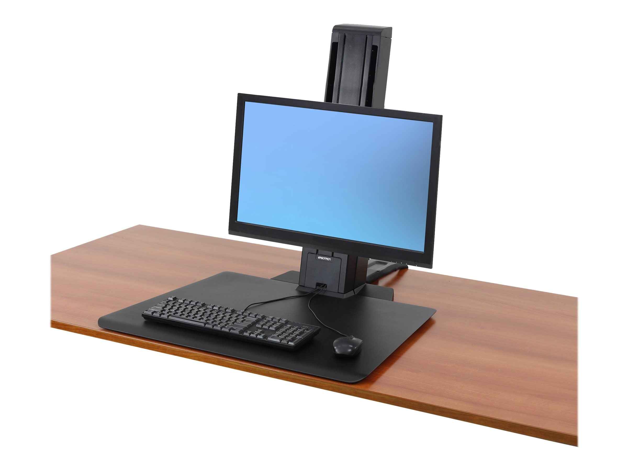 Ergotron WorkFit-SR, 1 Monitor, Sit-Stand Desktop Workstation, Black