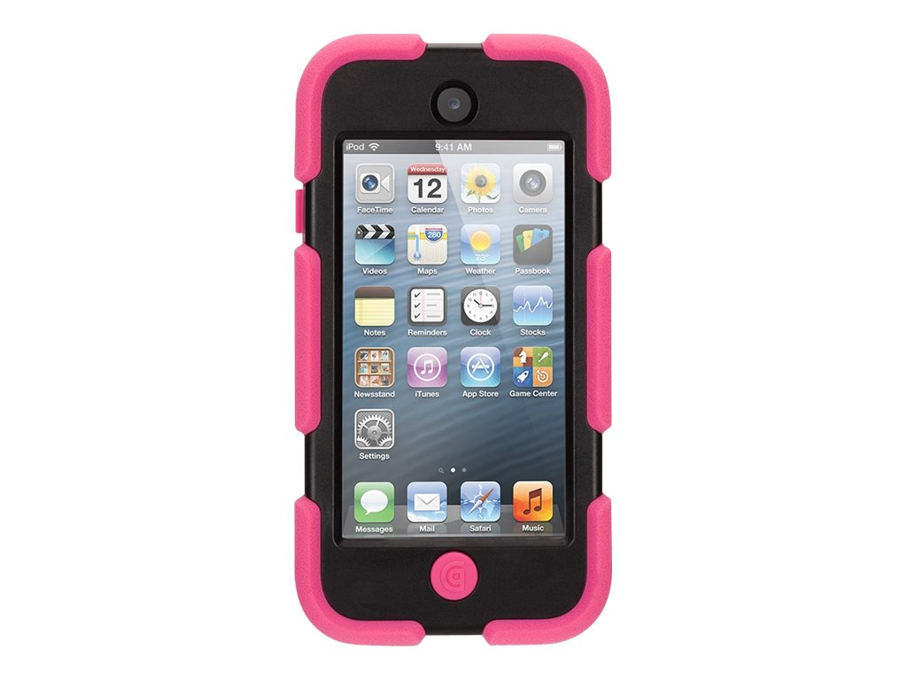 Griffin Survivor Case for iPod Touch 5th Gen, Pink  Black, GB35695-3, 18698662, Carrying Cases - iPod