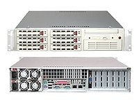 Supermicro Barebone SuperServer 6024H-8RB 2U Rackmount, DP Xeon, 500W RPS,6PCIE,PCIX,CD,FDD,GBE2,6X U320, Black, SYS-6024H-8RB, 5475814, Barebones Systems