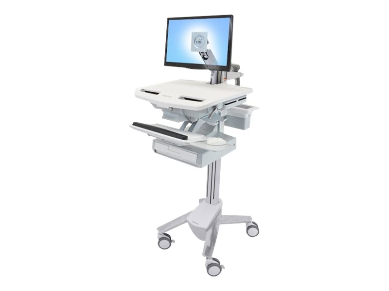 Ergotron StyleView Cart with LCD Arm, 1 Drawer, SV43-1210-0, 18024588, Computer Carts - Medical