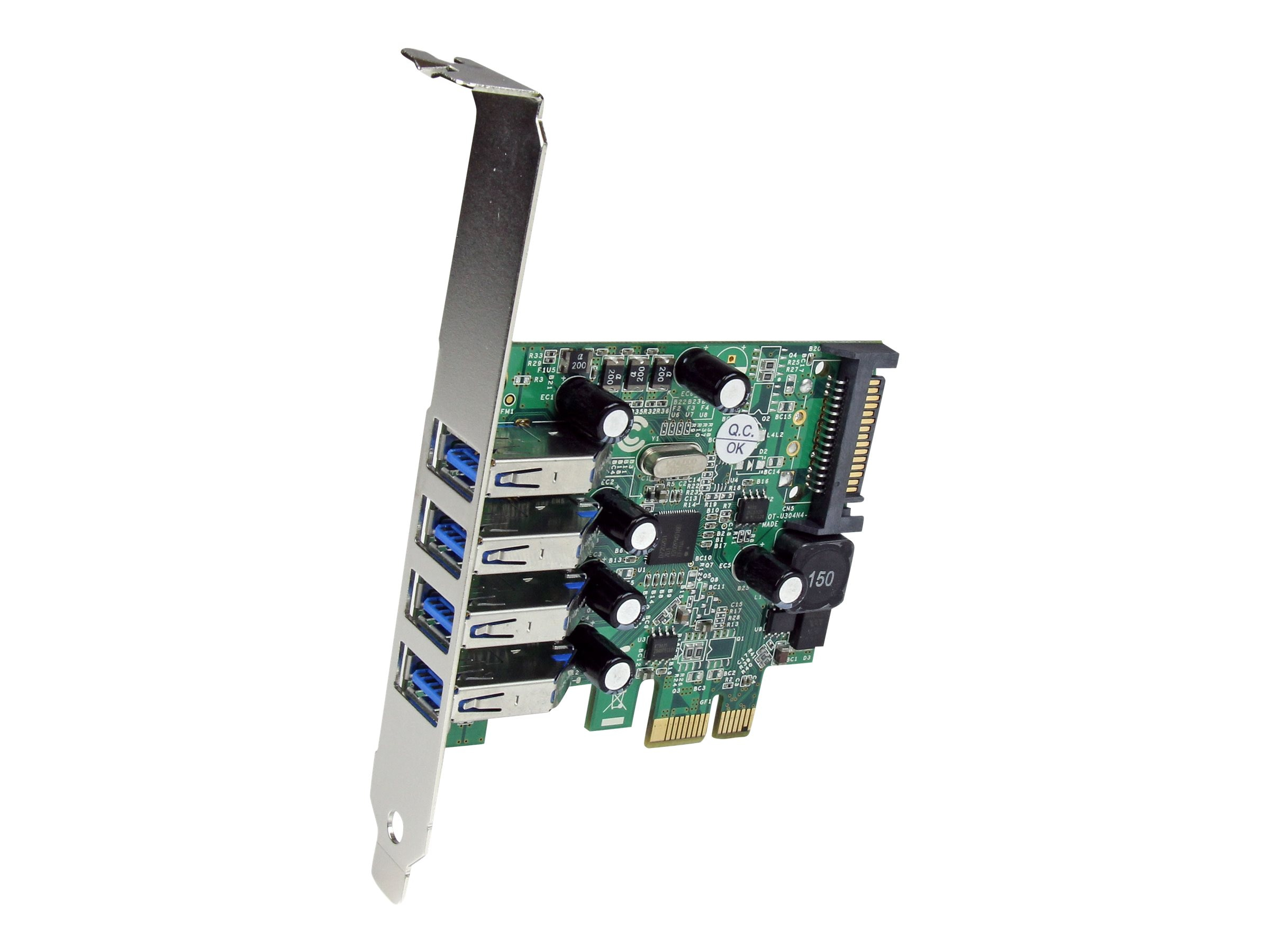 StarTech.com 4 Port PCI Express SuperSpeed USB 3.0 Card with UASP - SATA Power, PEXUSB3S4V