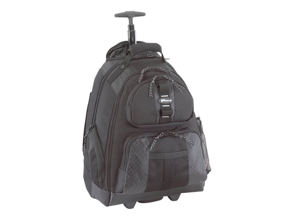 """Targus 15.4"""" Rolling Laptop Backpack, Black, TSB700, 5210023, Carrying Cases - Notebook"""