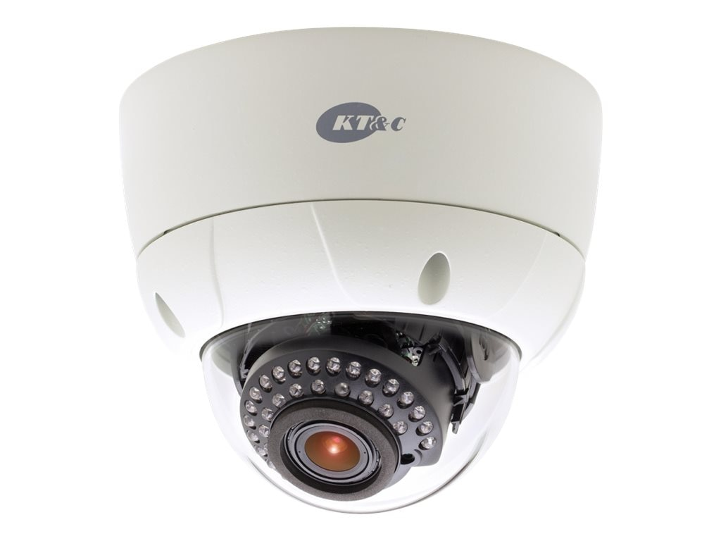 KT&C 750TVL Day Night Rugged Outdoor Dome Camera with 2.8-12mm Lens, KPC-VNNS102NUV