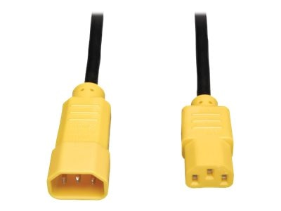 Tripp Lite Power Cord , 18AWG, C14 to C13, 4ft, Yellow, P004-004-YW, 13556497, Power Cords