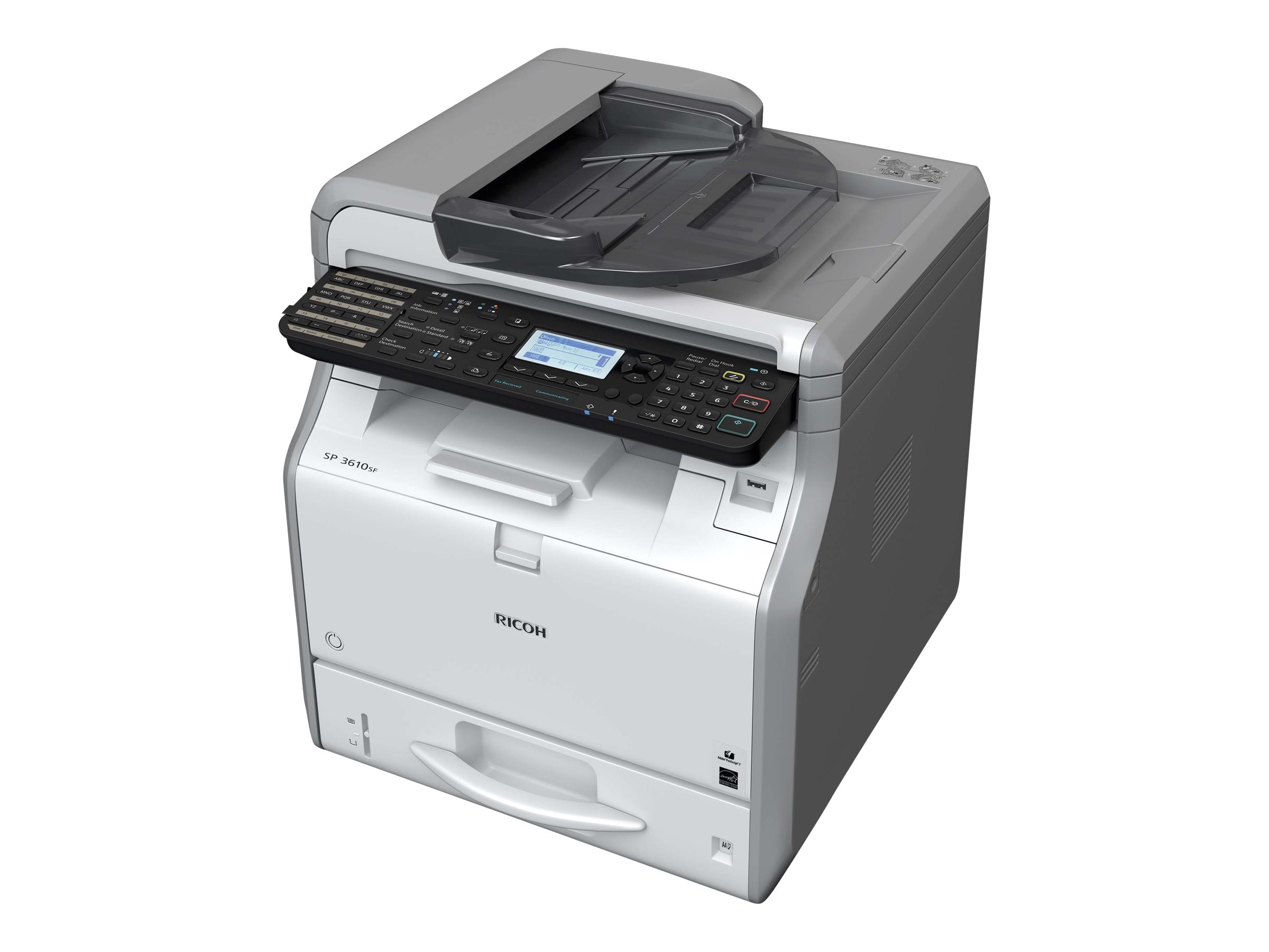 Ricoh SP 3610SF Black & White Multifunction Printer, 407305, 19378214, MultiFunction - Laser (monochrome)