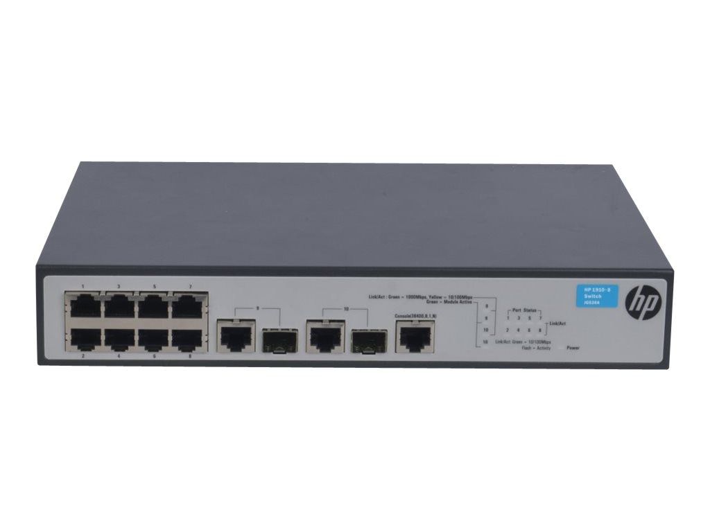 HPE 1910-8 Switch US English, JG536A#ABA, 16332325, Network Switches