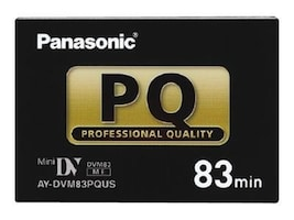 Panasonic Professional Mini DV Tape, 83 Minutes, AYDVM83PQUS, 15732327, Video Tape Media