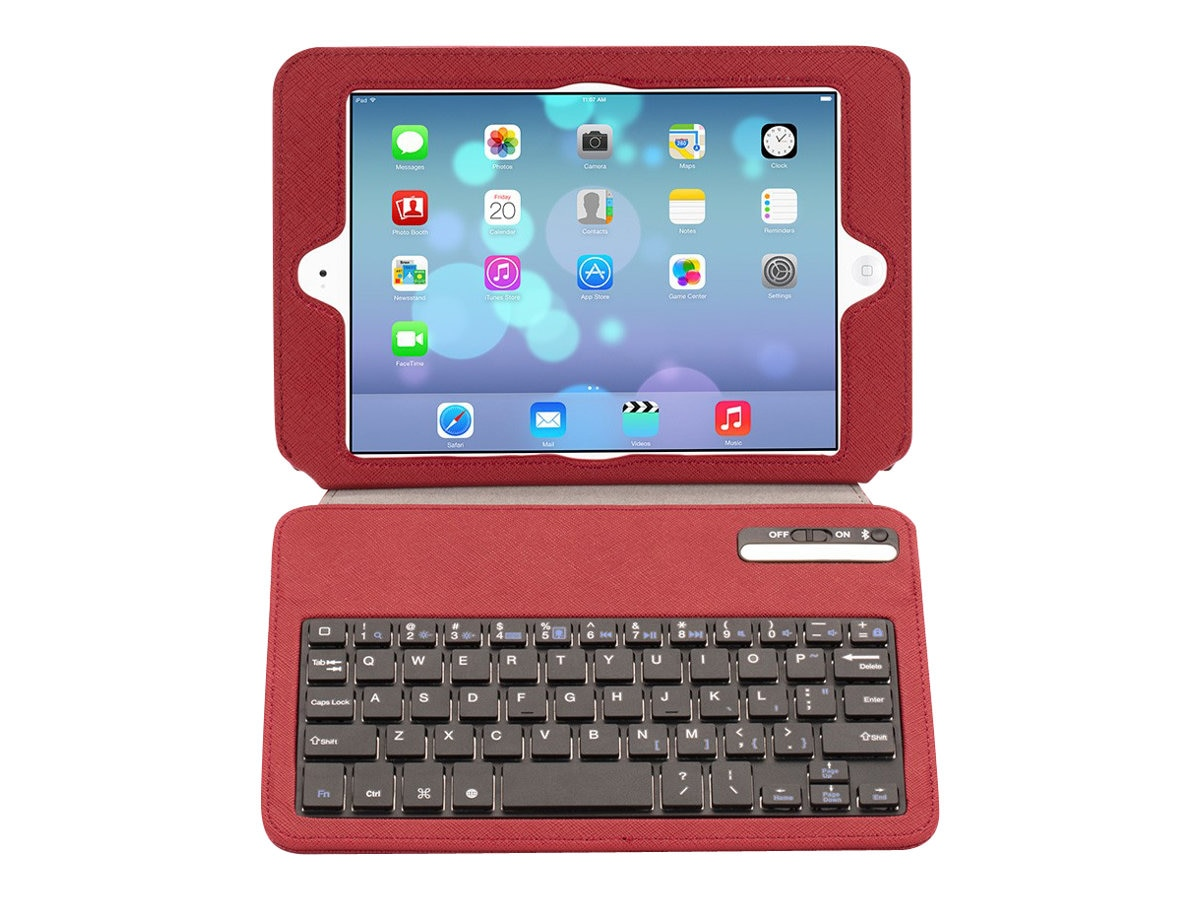Griffin Slim Keyboard for iPad Mini, Red, GB37997, 16374373, Keyboards & Keypads