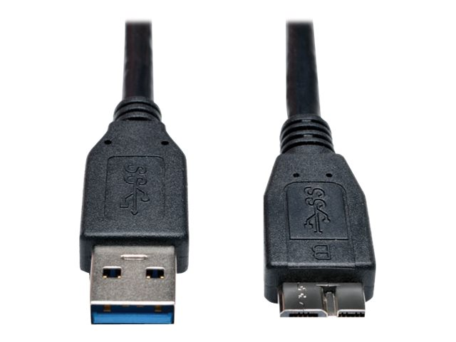 Tripp Lite USB 3.0 Type A to Micro B M M Cable, Black, 3ft, U326-003-BK, 17455440, Cables