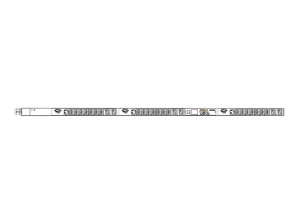 Raritan PDU 208V 24A 3-ph (21) C13 (6) C19 (3) 5-20R Outlets, PX3-5660V-E2, 30737206, Power Distribution Units