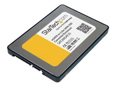 StarTech.com 2.5 SATA to Mini SATA SSD Adapter Enclosure, SAT2MSAT25