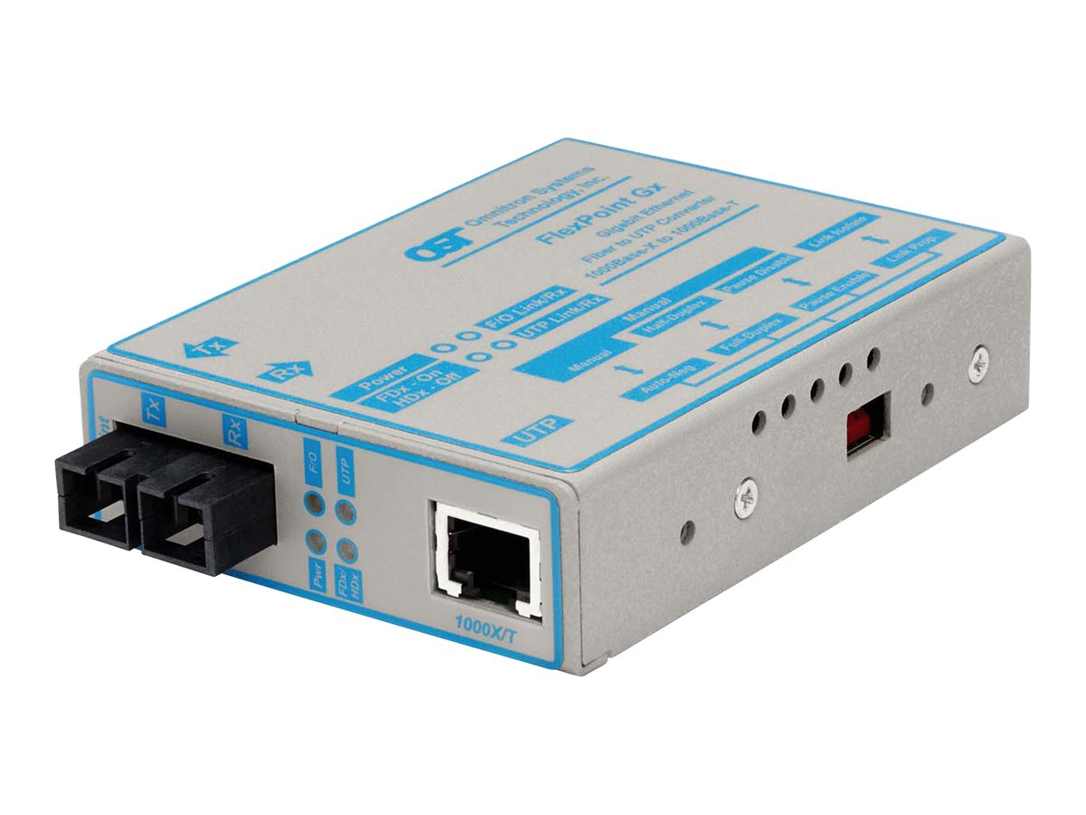 Omnitron MEDIA CONVERTER GIGABIT UTP FI, 4373-1, 234048, Network Transceivers
