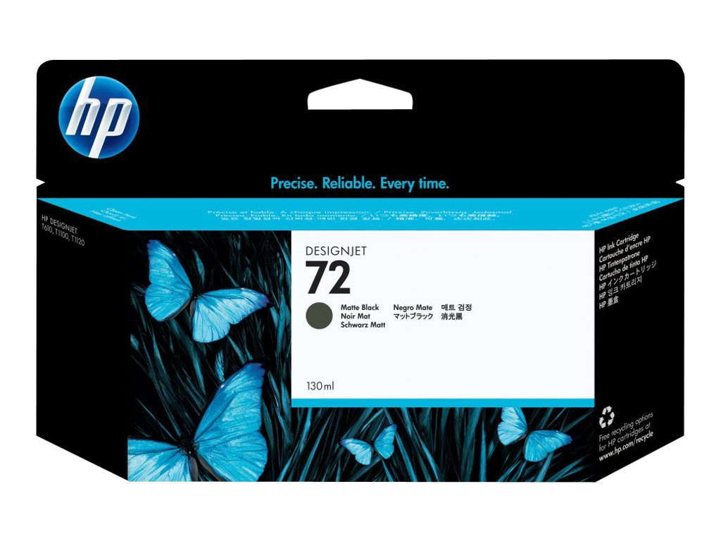 HP 72 Matte Black Ink Cartridge (130ml) C9403A, C9403A, 7614671, Ink Cartridges & Ink Refill Kits