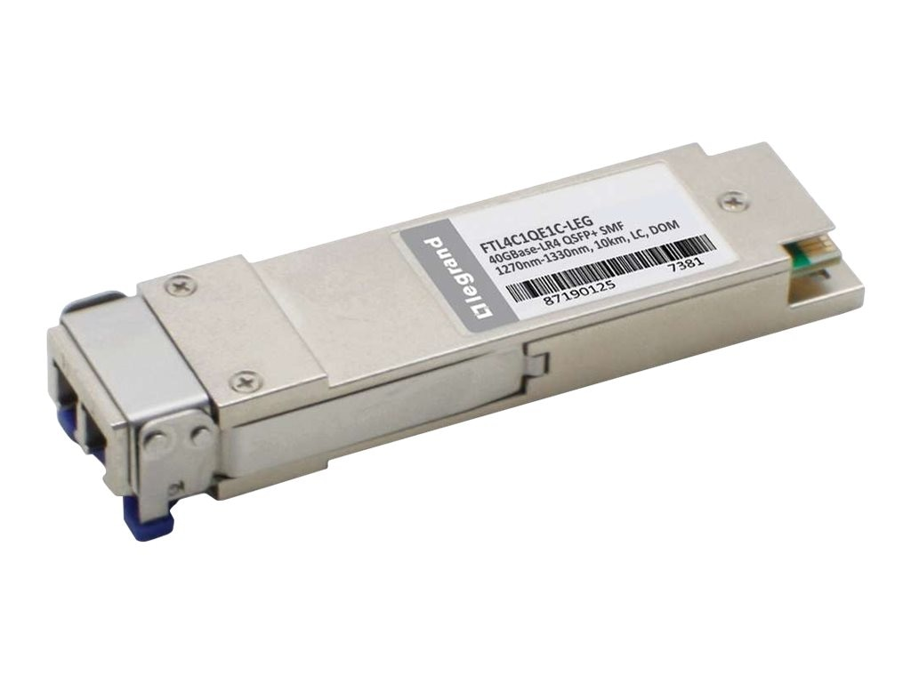 C2G Finisar FTL4C1QE1C Compatible 40GBase-LR4 QSFP+ Silver TAA Transceiver