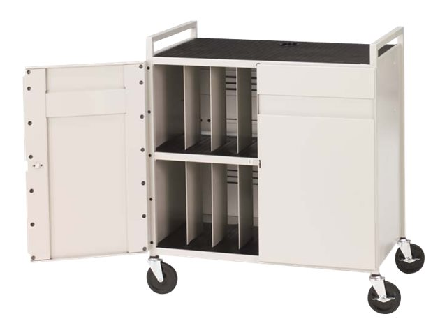 Bretford Manufacturing Notebook Computer Cart for 15in Laptops, LAPTG15ESA-GM, 5561173, Computer Carts