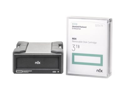 HPE RDX 3TB USB 3.0 External Disk Backup System