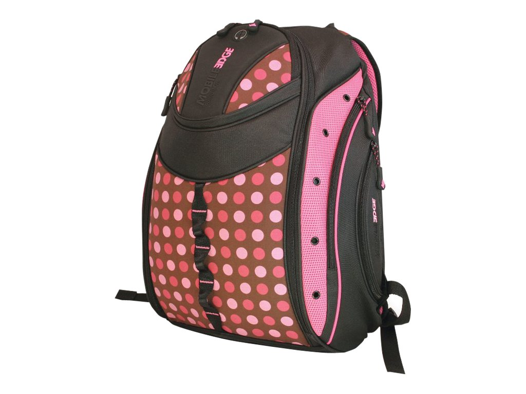 Mobile Edge Women's Express Backpack, Pink Circle, MEBPEX2, 8490972, Carrying Cases - Notebook
