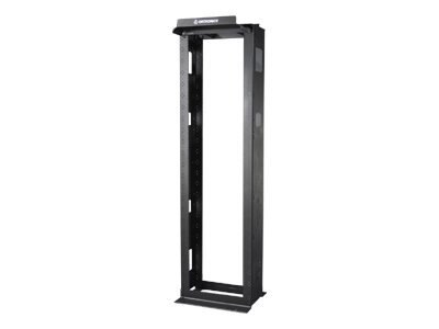 Ortronics Mighty Mo 6 Cable Management Rack, 6.5 Channel Depth x 7', Black, MM6706