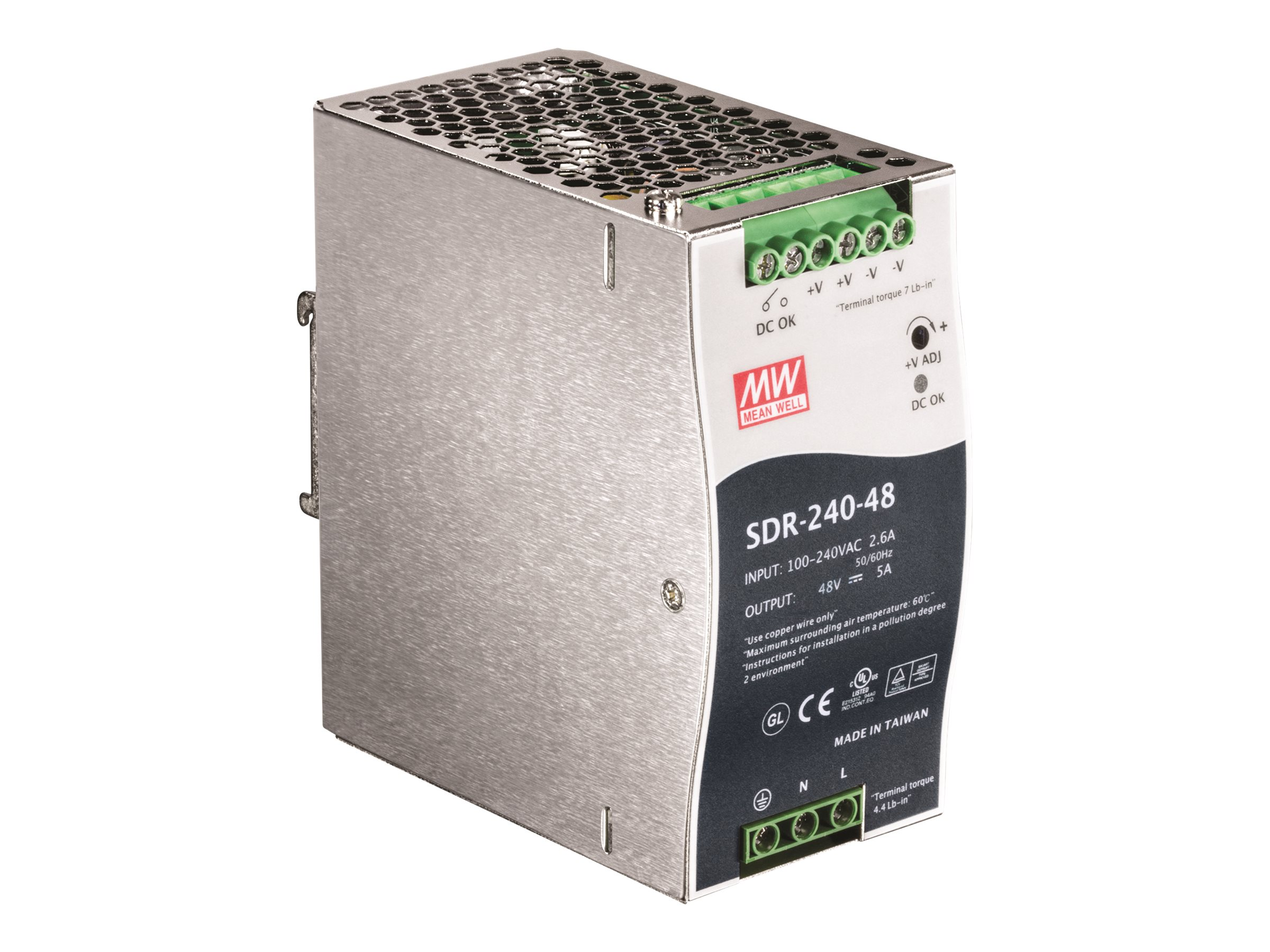 TRENDnet 240W Single Output Industrial DIN-Rail Power Supply, TI-S24048