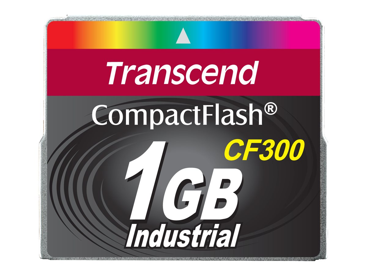 Transcend 1GB 300X UDMA5 CompactFlash Memory Card, TS1GCF300, 30741504, Memory - Flash
