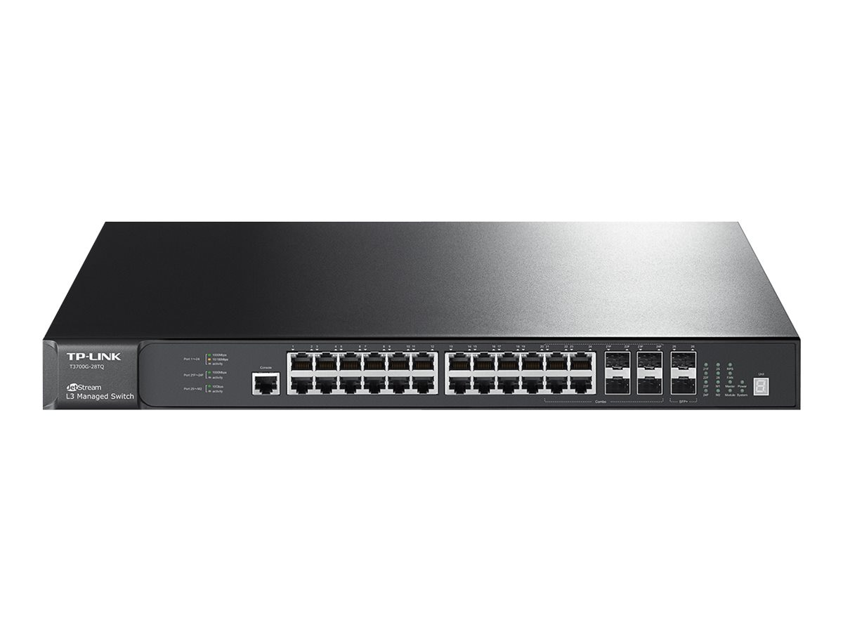 TP-LINK 28-Port Managed 24-Port, 4 Combo  SFP GB Stackable  L3 Switch