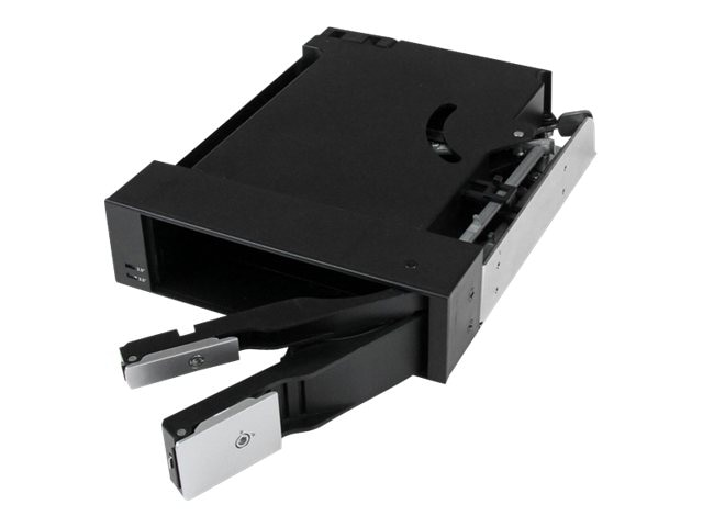 StarTech.com Dual Bay 5.25 Trayless Hot Swap Mobile Rack Backplane for 2.5 & 3.5 SATA SAS HDD or SSD w  Fan, HSB2535SATBK, 16673437, Drive Mounting Hardware