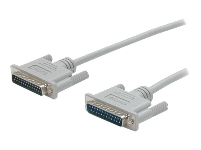 StarTech.com Straight Through Serial Parallel Cable, DB25 M M, 10 ft