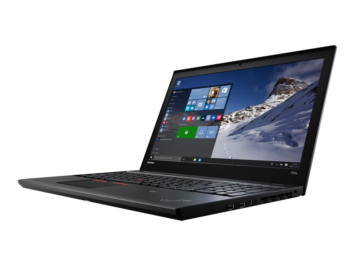 Lenovo ThinkPad P50S 16GB 512GB W10D, 20FL000MUS, 31220381, Workstations - Mobile