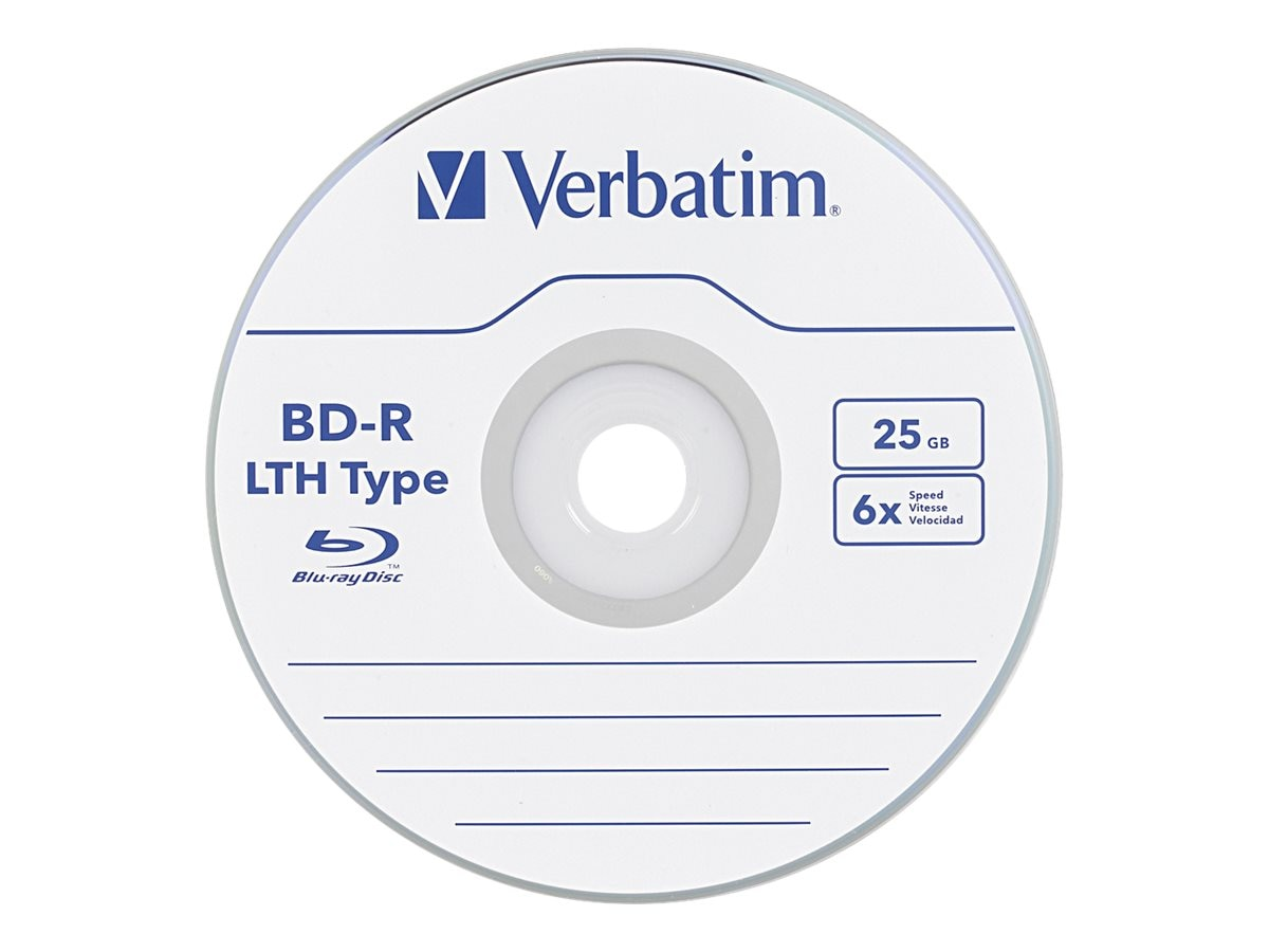 Verbatim 6x 25GB LTH Type BD-R Media (20-pack Spindle)