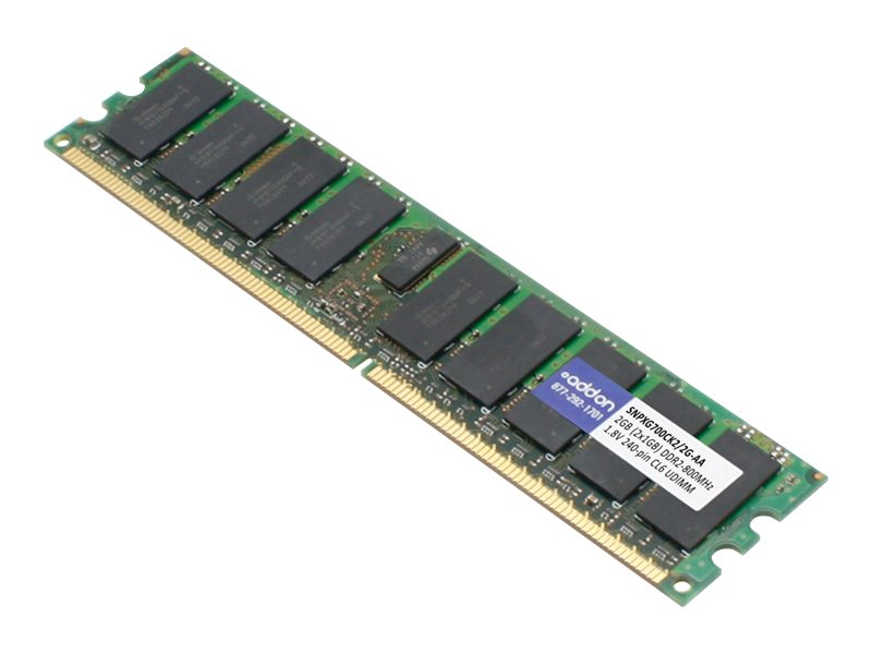 ACP-EP 2GB PC2-6400 240-pin DDR2 SDRAM DIMM Kit, SNPXG700CK2/2G-AA