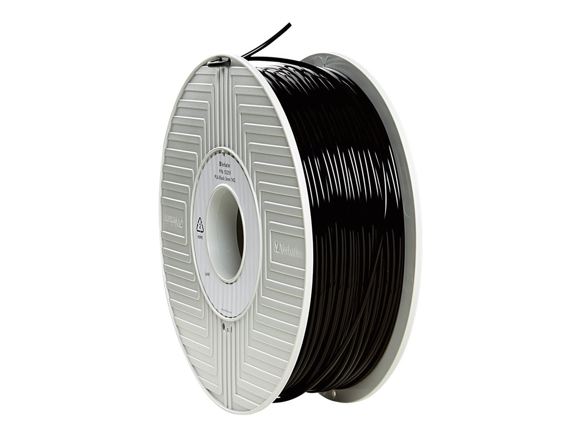 Verbatim 3mm Black 1KG PLA 3D Filament Reel for 3D Printers, 55259
